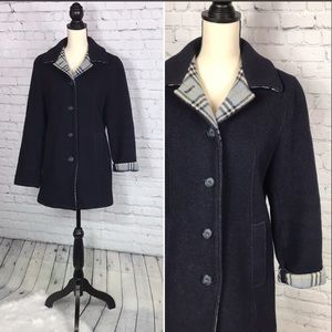 ✨{Talbots} wool button down peacoat✨